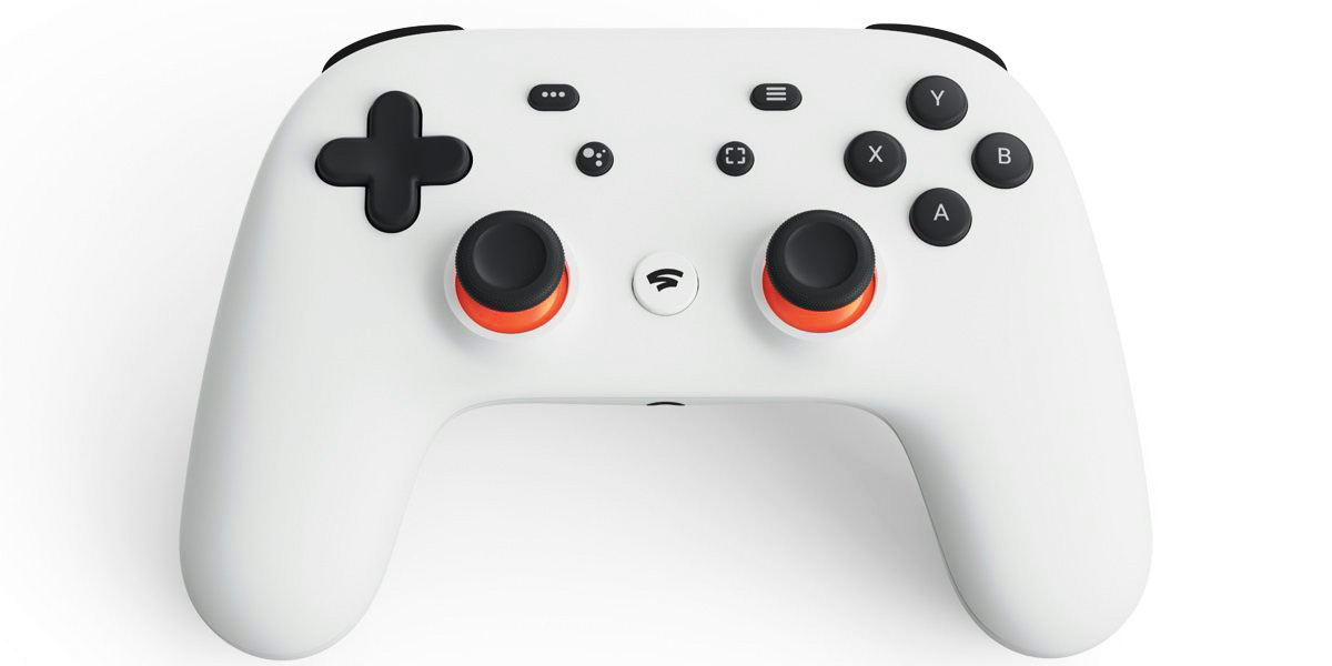 The only physical piece of Stadia is a controller.