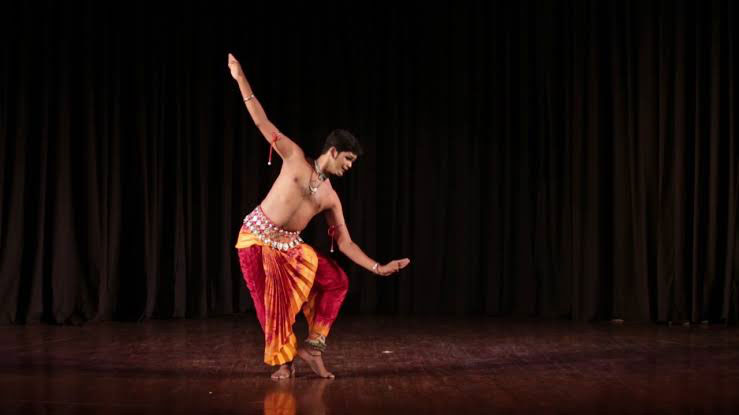 Odissi performance by Vinod Kevin Bachan from West Indies in 11th edition of the Pragjyoti International Dance Festival (PIDF) at Sri Sri Madhavdev International Auditorium