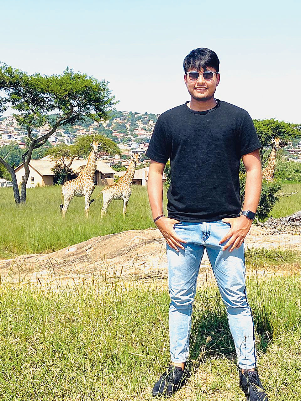 Sushant Mishra at Kruger National Park in South Africa earlier this month.