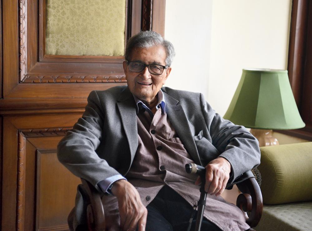 Amartya Sen in Calcutta on January 13