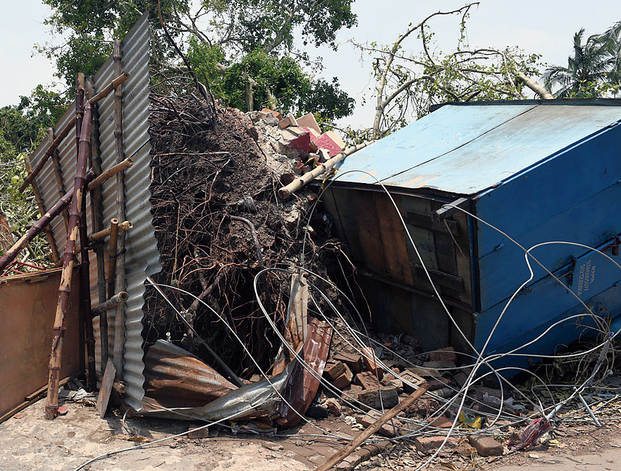 The damage caused by Amphan on May 20 in Hooghly district