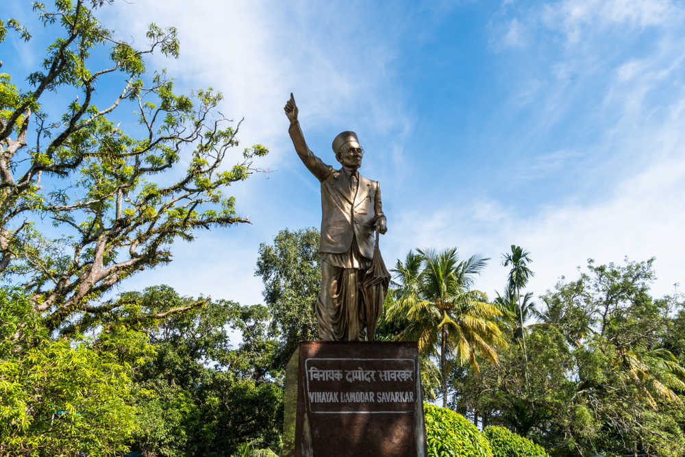A statue of the Veer Savarkar near the Cellular Jail (Kala Pani) in Port Blair, Andaman Islands