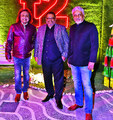 (L-R) Tanmoy Bose, Aniruddha Roy Chowdhury and Kunal Basu