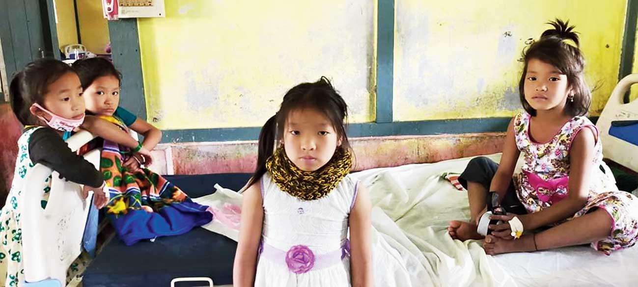 Children at Tezu hospital in Arunachal Pradesh.