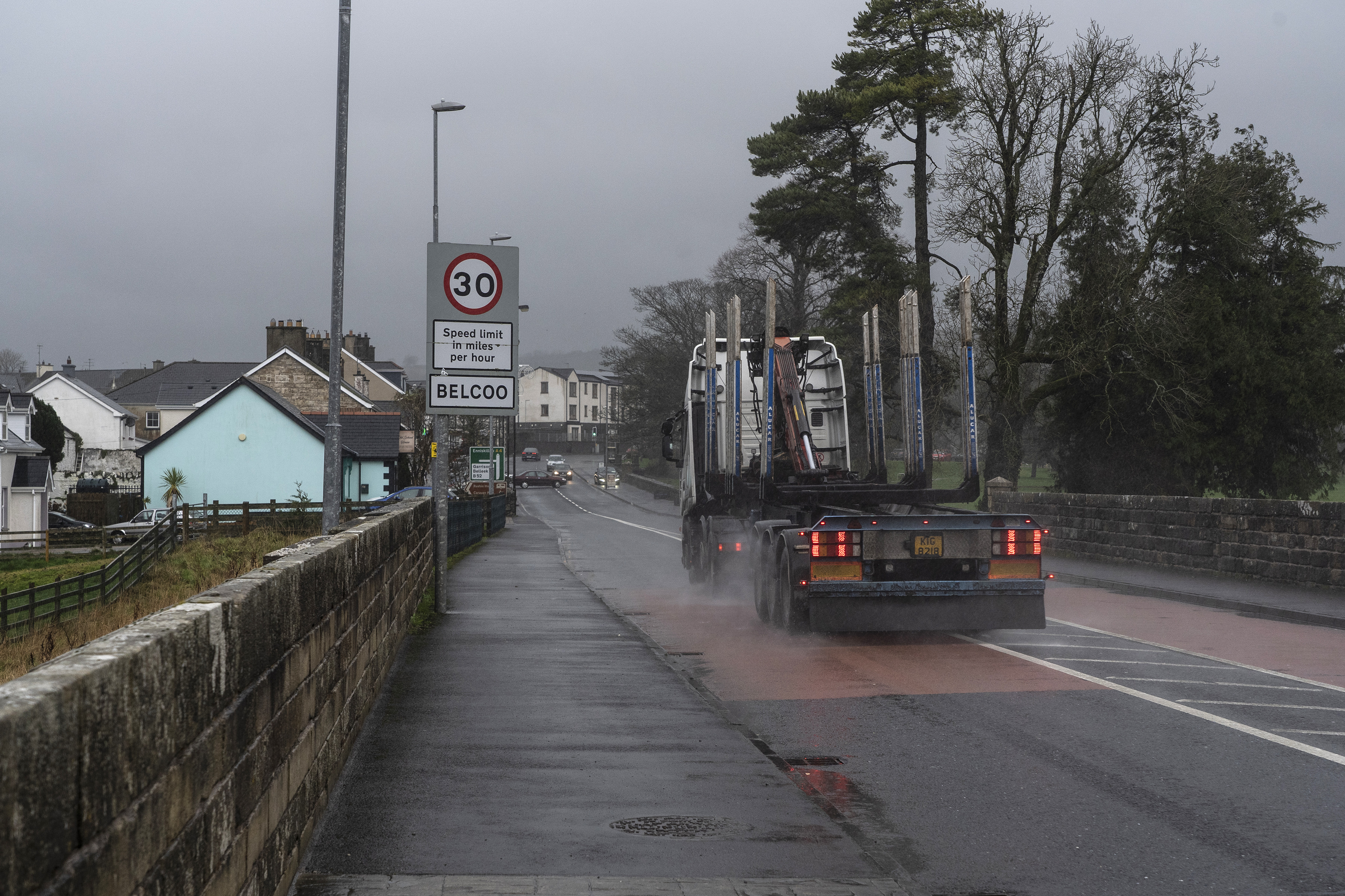 A truck crosses a bridge from Blacklion, Ireland, into Belcoo, a village in Northern Ireland. With the deadline for Britain to leave the European Union approaching, some regions are more vulnerable to economic disruptions from Brexit than others.