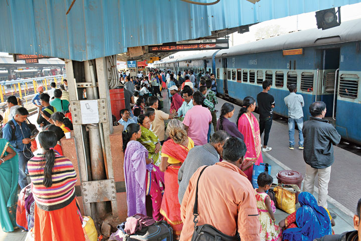 Passengers at Tatanagar railway station