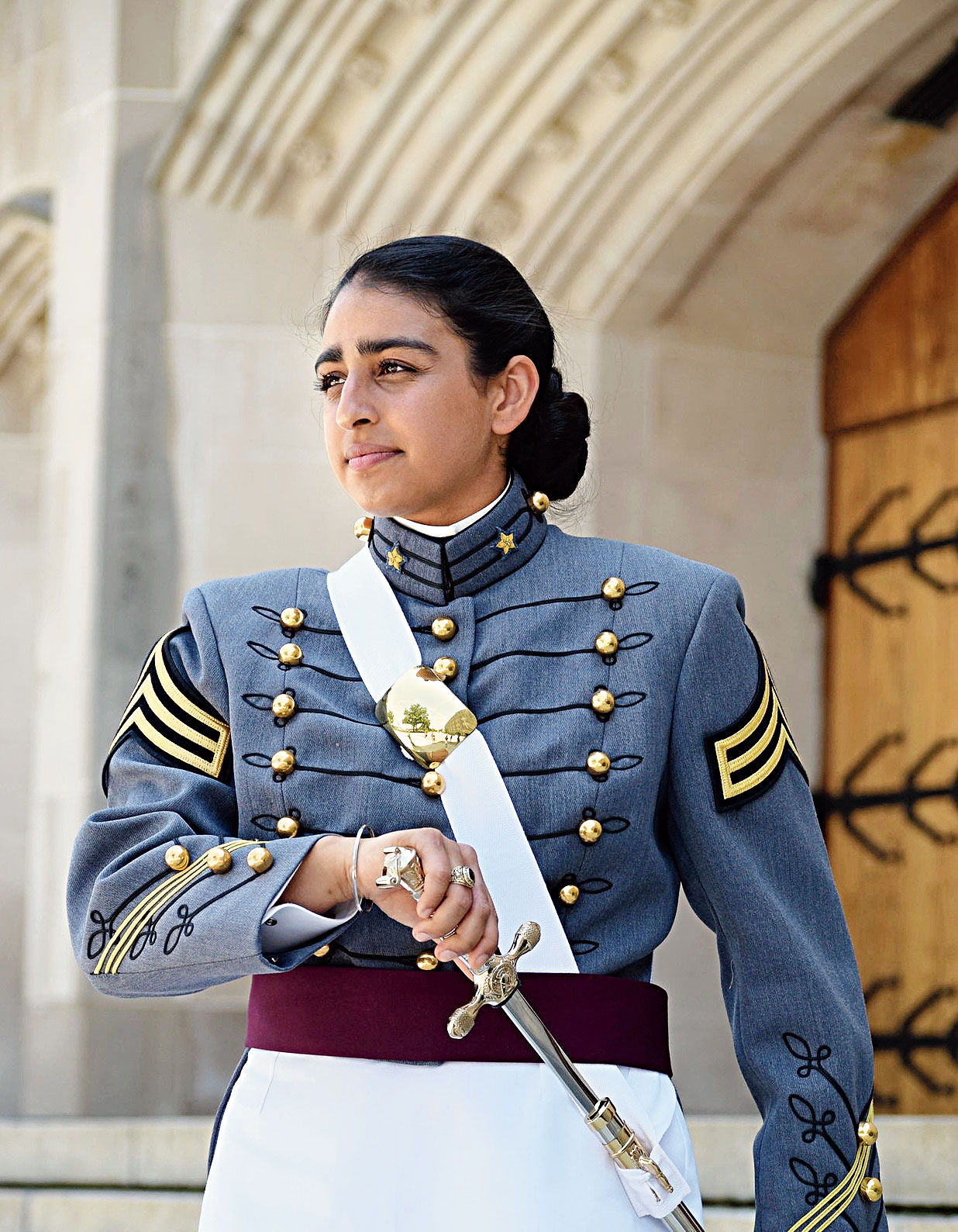 Anmol Narang said she mailed her application to West Point from a hotel in Hawaii immediately after visiting the Pearl Harbor memorial during her junior year in high school.