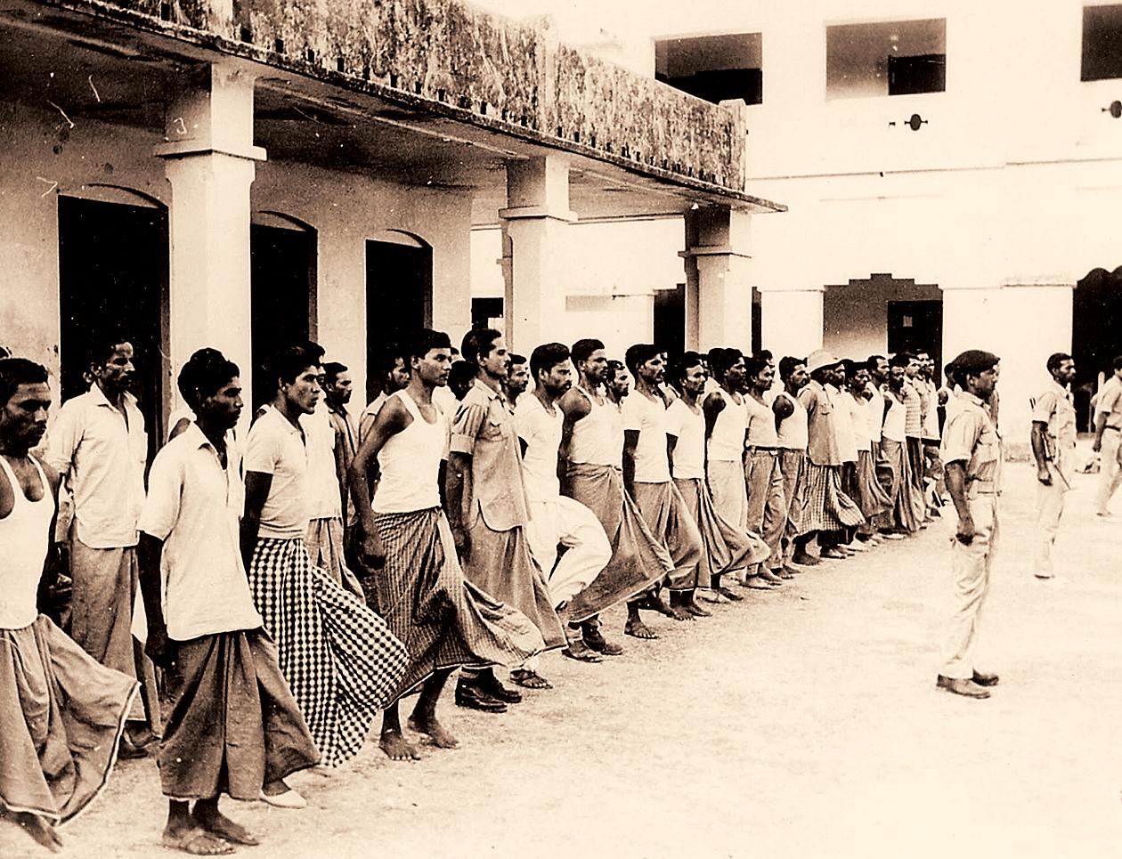 Mukti Bahini recruits train to join the war.