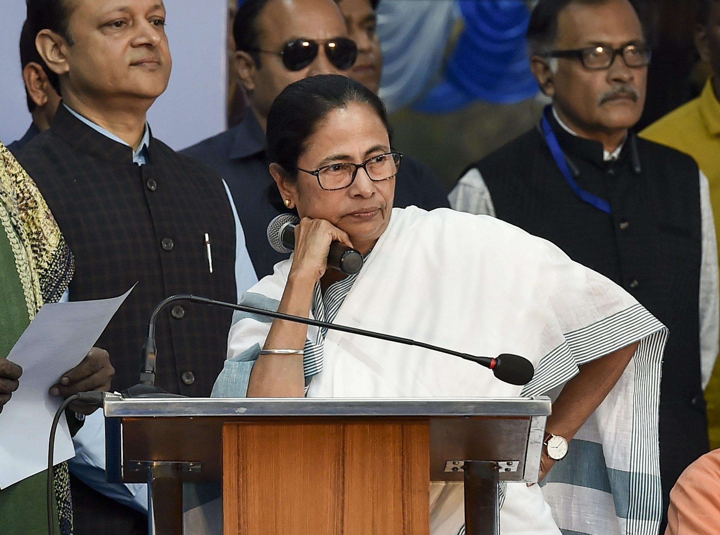 Mamata Banerjee in Calcutta on Friday.