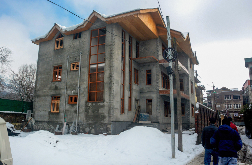 The newly constructed home of Davinder Singh in Srinagar