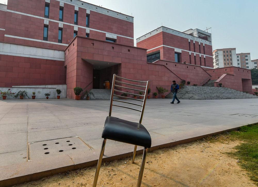 The deserted BJP office in New Delhi on Tuesday, December 11, 2018