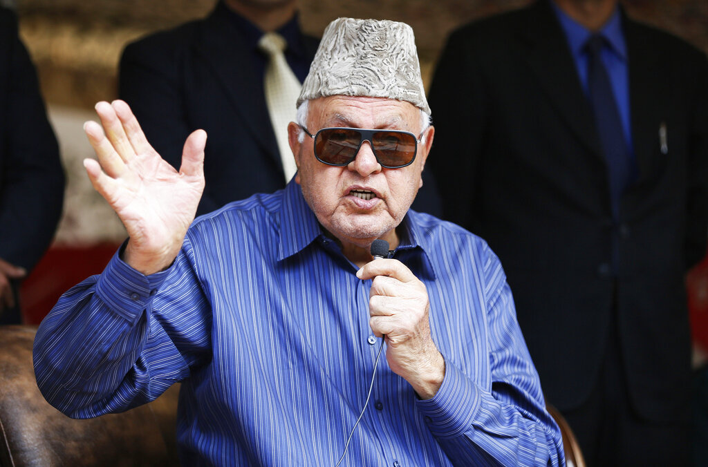 National Conference president Farooq Abdullah in Srinagar in April.