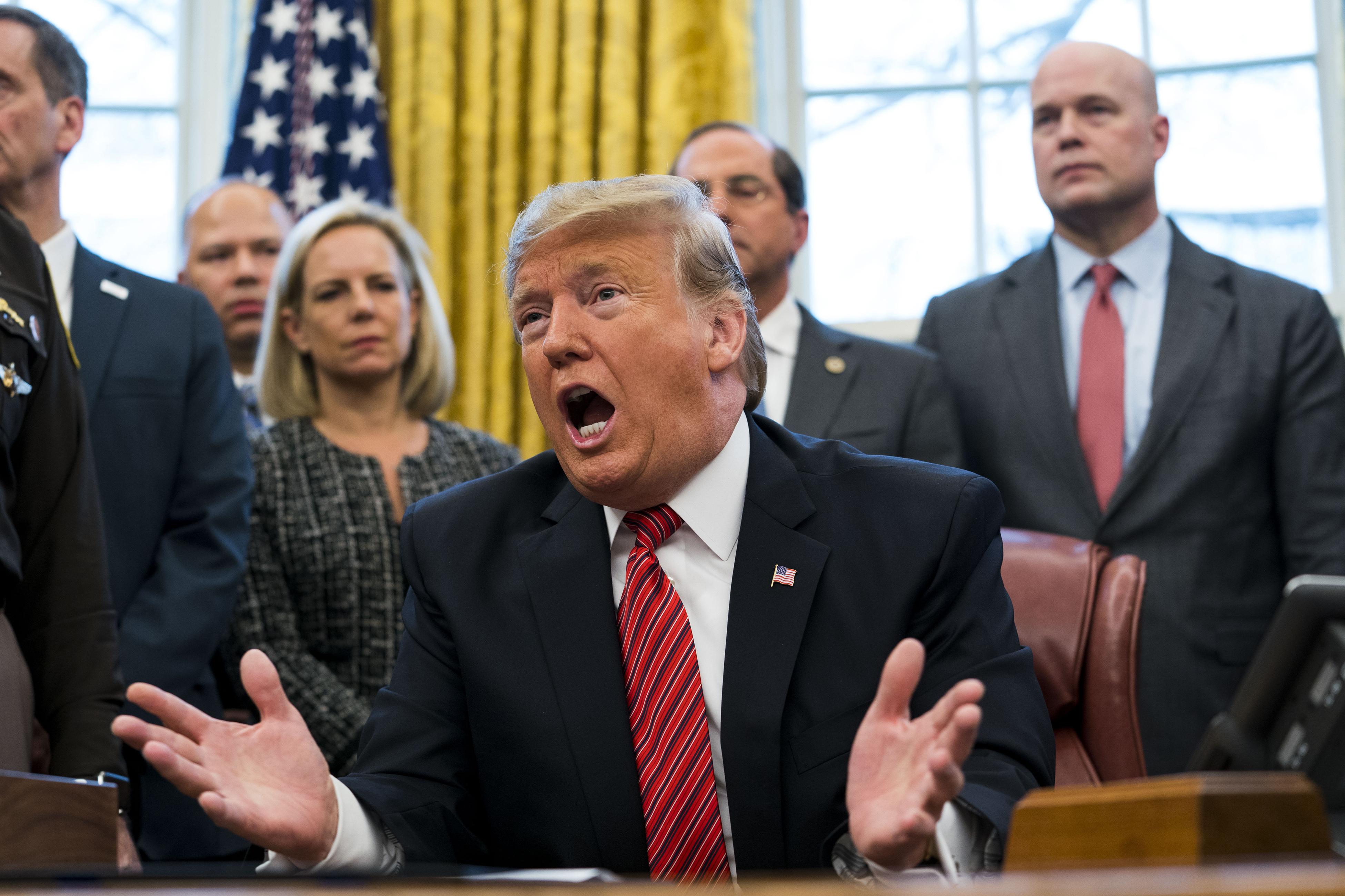 Shutdown talks hit a wall and Donald Trump's 'temper tantrums'