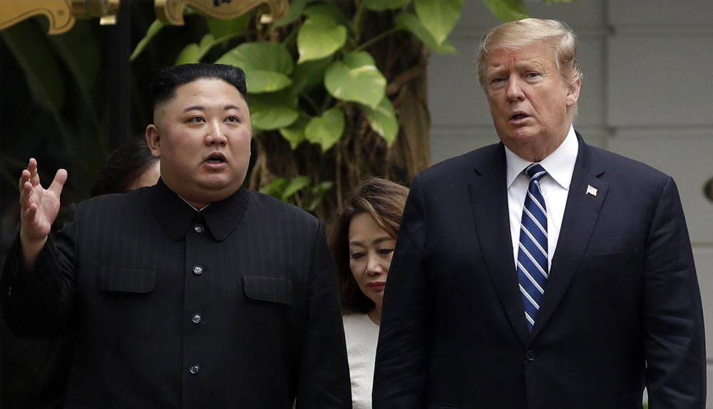 President Donald Trump and North Korean leader Kim Jong Un