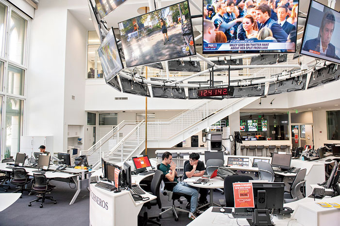 The students started looking into the university after professors at USC's Annenberg School of Communication and Journalism got administration approval for the programme that put them in the role of campus watchdogs