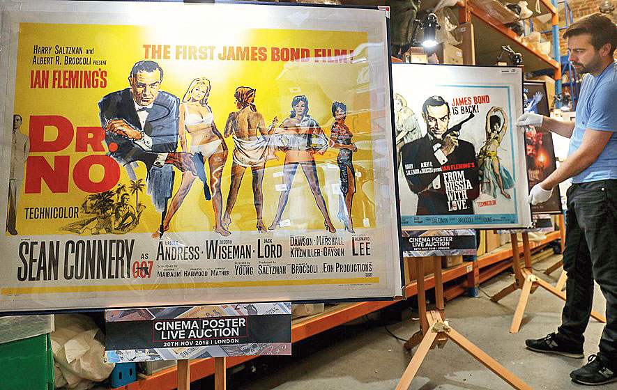 The Bond posters up for online auction