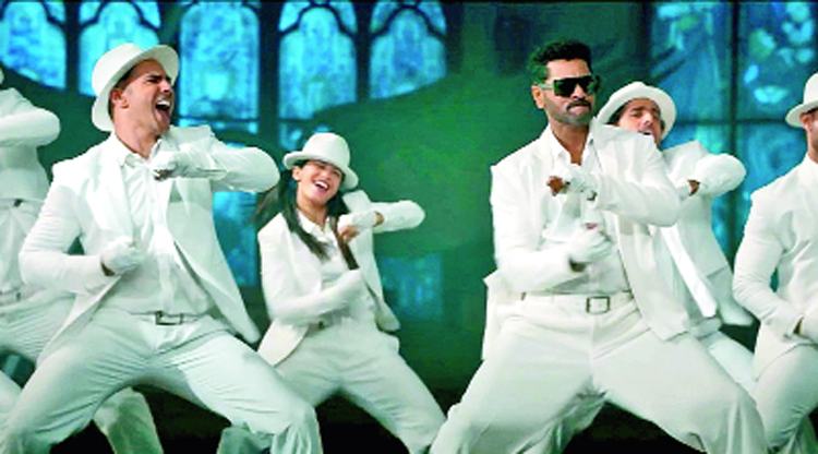 Prabhudeva and Varun Dhawan in the new Muqabla track