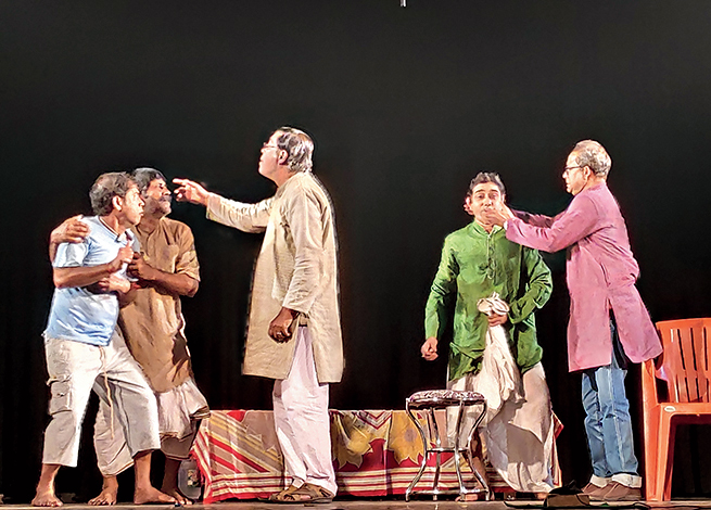 A moment from the play, Michhil