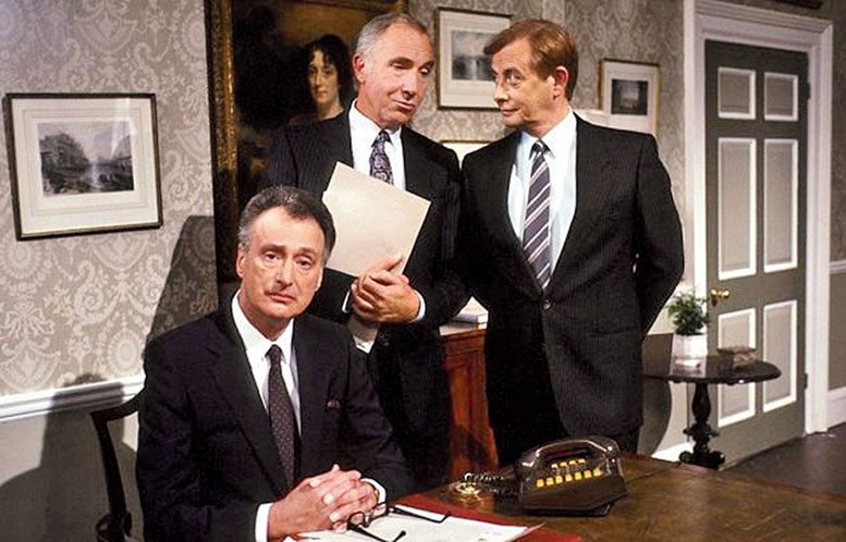 A scene from Yes Minister