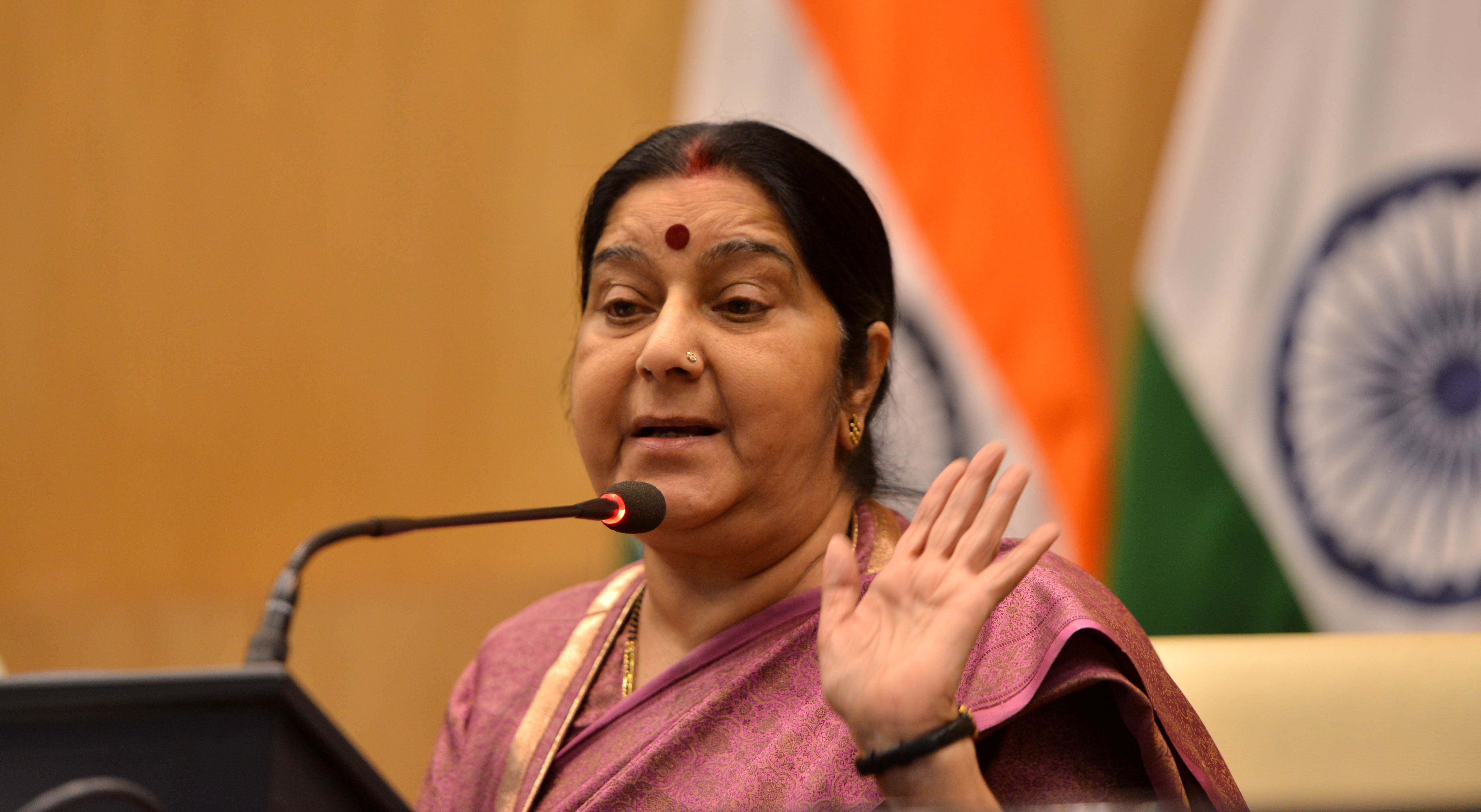 Sushma Swaraj pointed out that Islam literally means peace and none of the 99 names of Allah means violence.