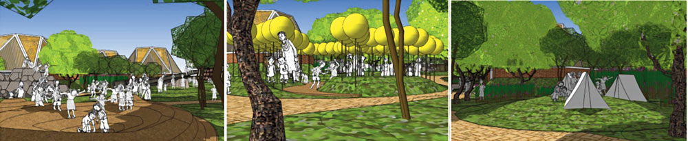 Artist's impressions of the upcoming sensory park in New Town