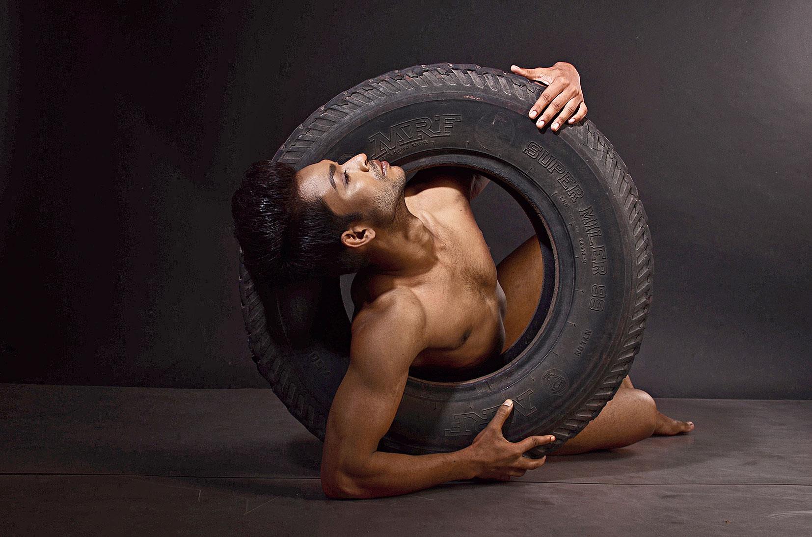 BARE ESSENTIALS: Model at Aungshita Chatterjee's studio