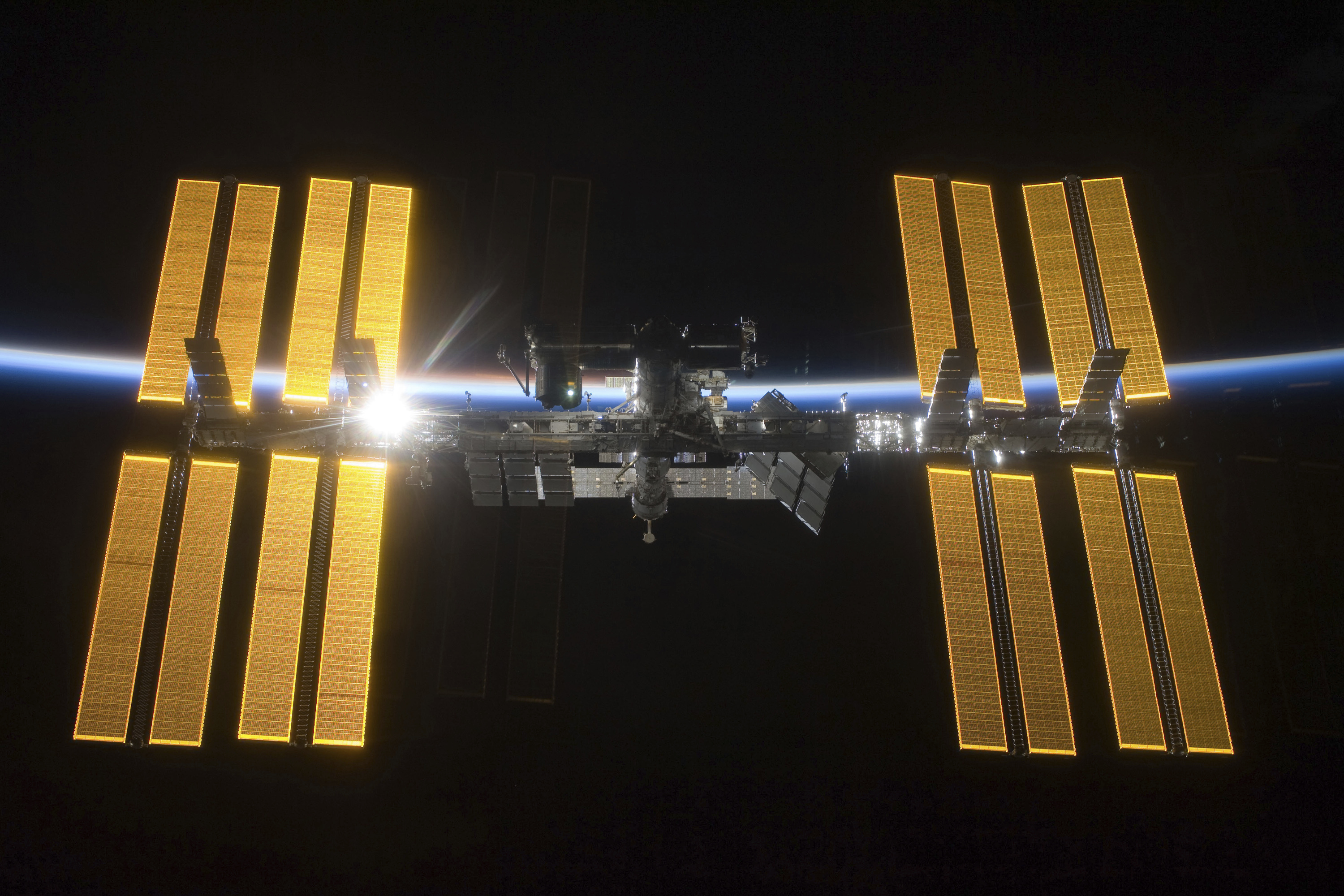 The International Space Station (ISS), as seen from the Space Shuttle Discovery during separation, will be open to private astronauts, with the first visit as early as next year
