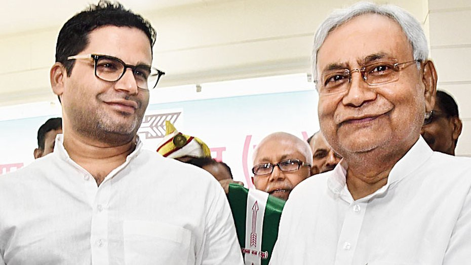 Prashant Kishor with Nitish Kumar at the time of joining the Janata Dal (United).