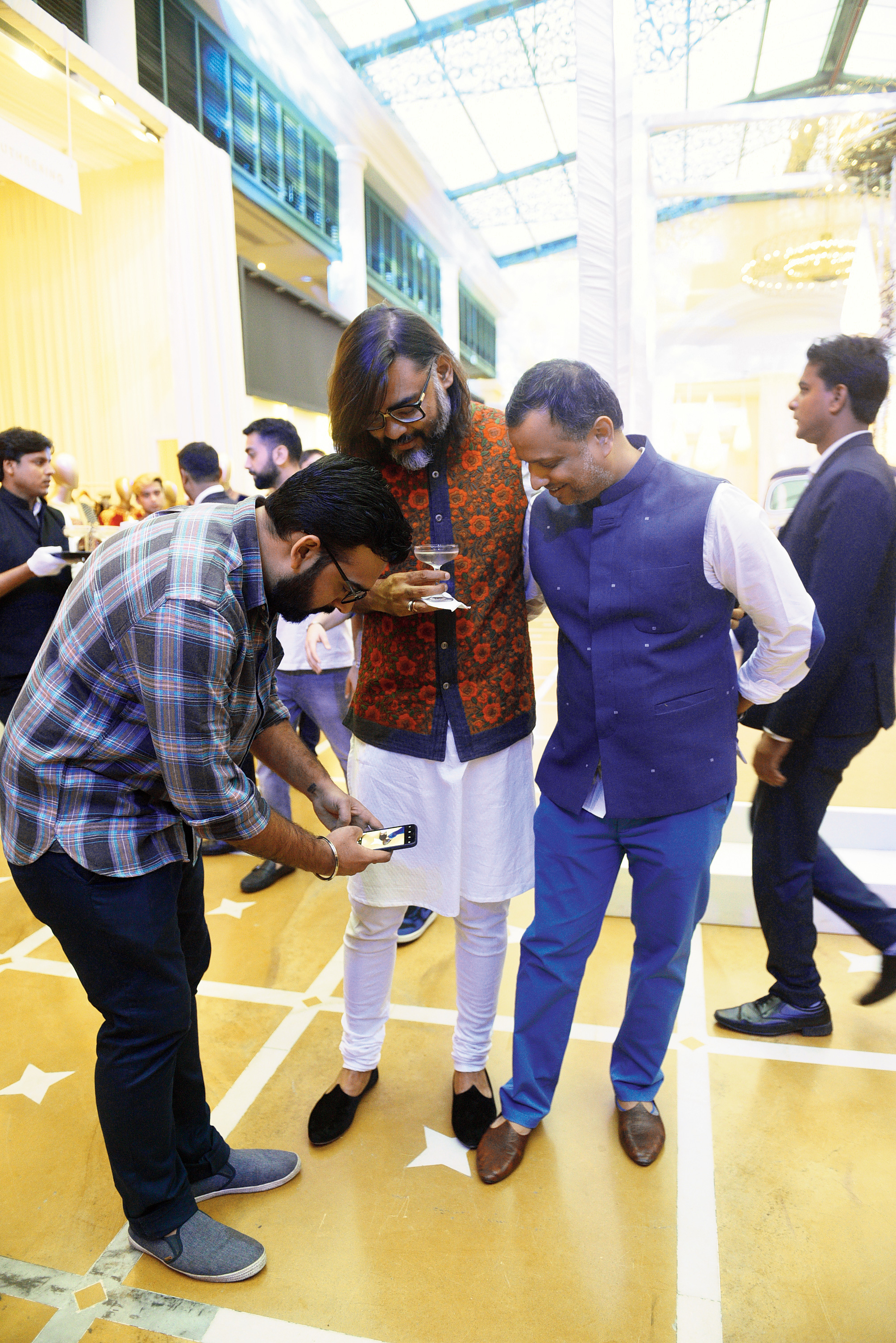 """Footwear designer Rohan Arora literally stopped Swarup Dutta and designer Adarsh Makharia, both wearing shoes from his label, in their tracks! """"Swarup was in a black velvet jooti and Adarsh in a Bombay brown jooti,"""" said Rohan, who showcased his signature shoes at Wedding Diaries."""