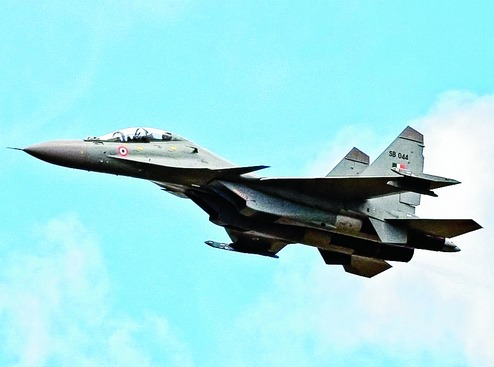 Indian Air Force's Sukhoi 30 fighter aircraft