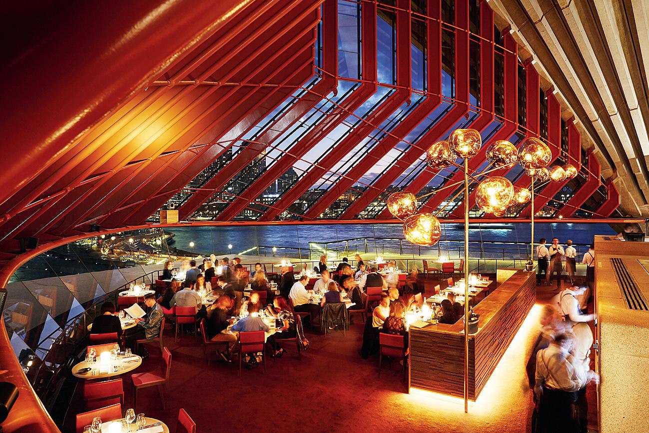 An usual evening at Bennelong Restaurant