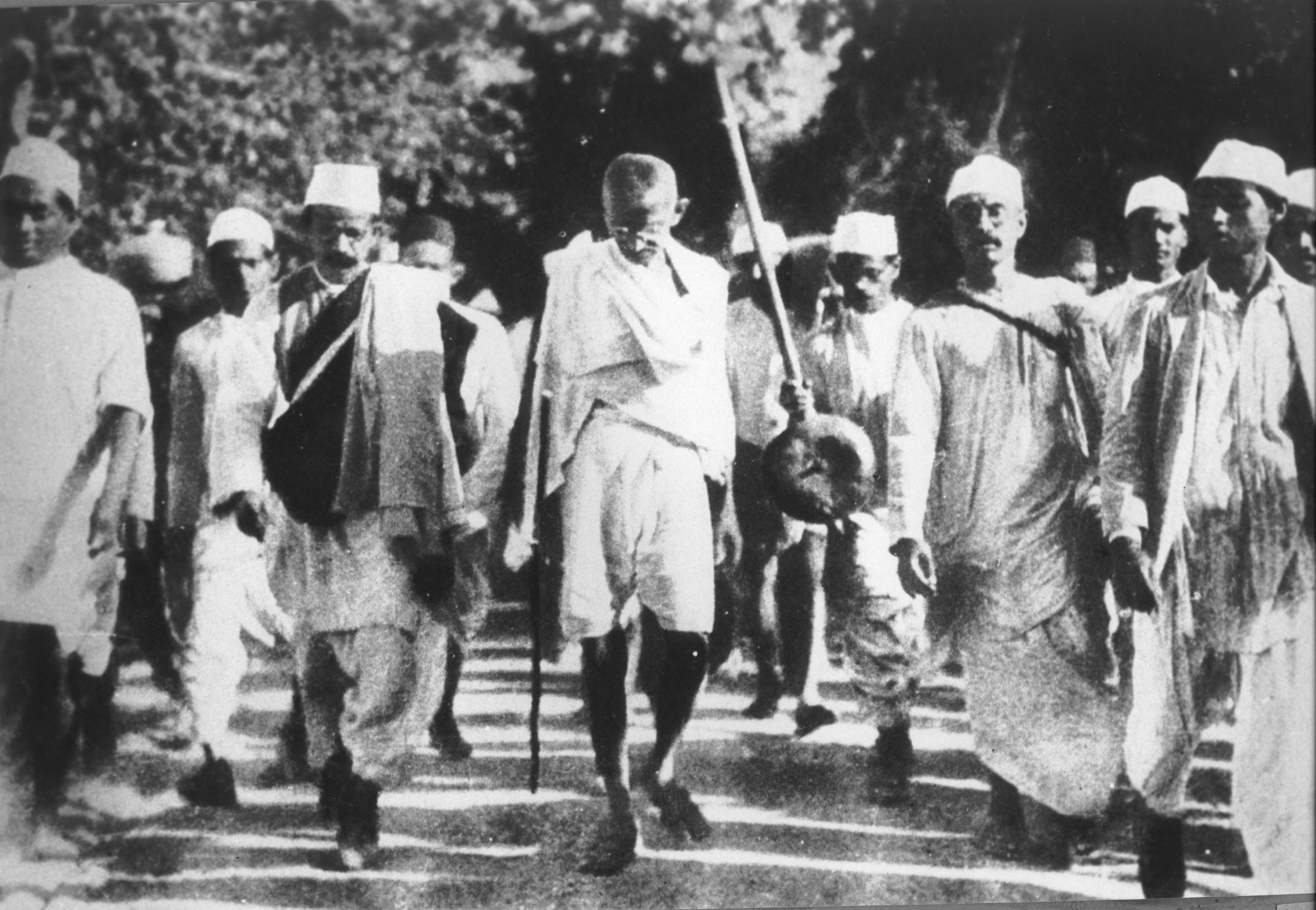 Mahatma Gandhi during the Salt March, 1930. It is ironic that the India that Narendra Modi leads has elected to its temple of democracy a representative who had publicly declared Gandhi's assassin to be a patriot