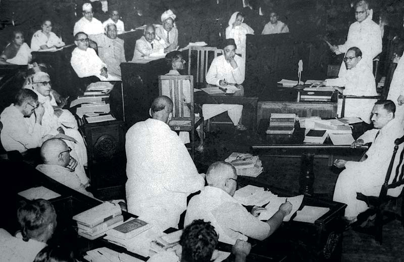 A meeting of the Constituent Assembly, 1950
