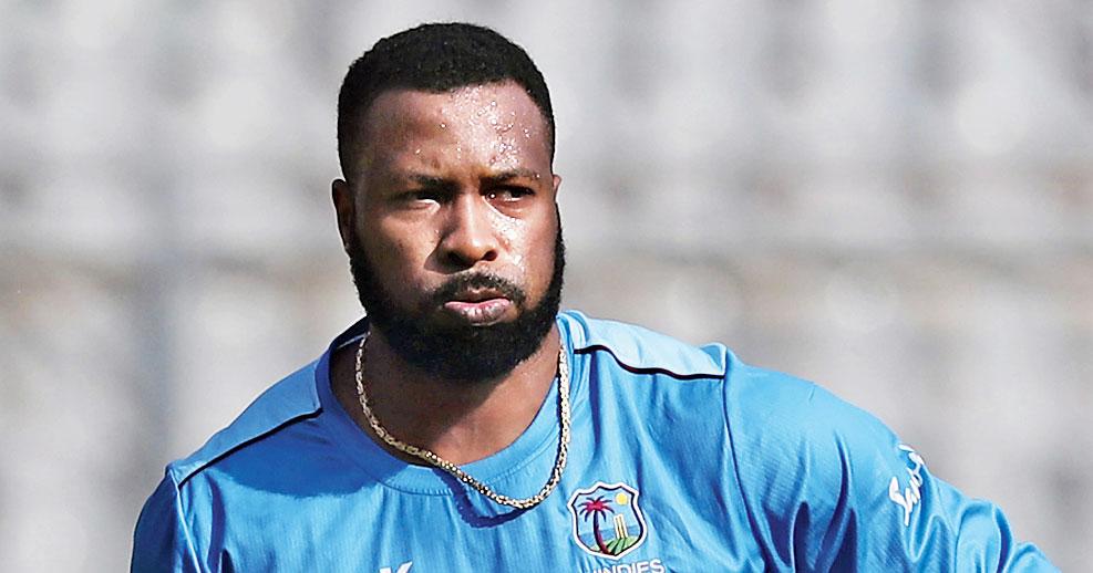 West Indies' captain Kieron Pollard during training on Tuesday.