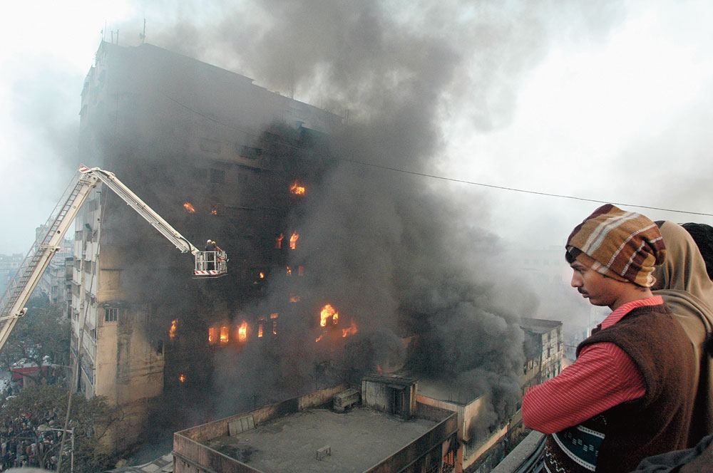 The devastating fire that blazed for 100 hours at Nandaram Market in January 2008