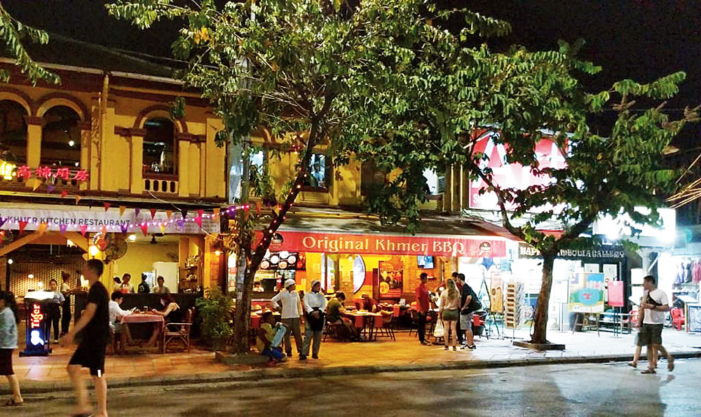 The many restaurants in Siem Reap serve great food at reasonable prices