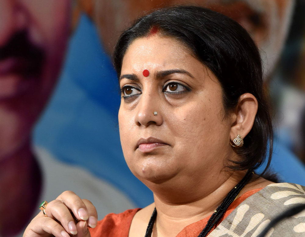Smriti questions  Rahul 'manhood'