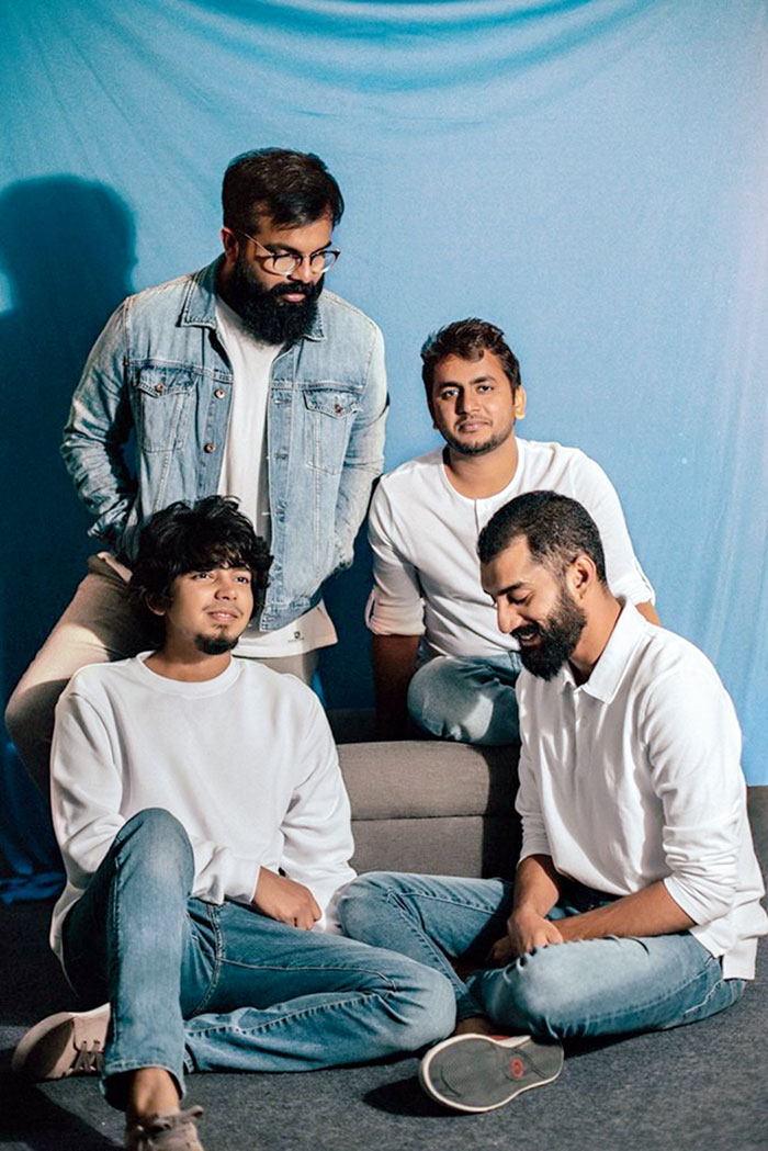 (L-R) Achyuth Jaigopal (guitar and banjo), Ashwin Gopakumar (vocals and guitar), Palee Francis (keyboard) and Pai Sailesh (drums) of When Chai Met Toast