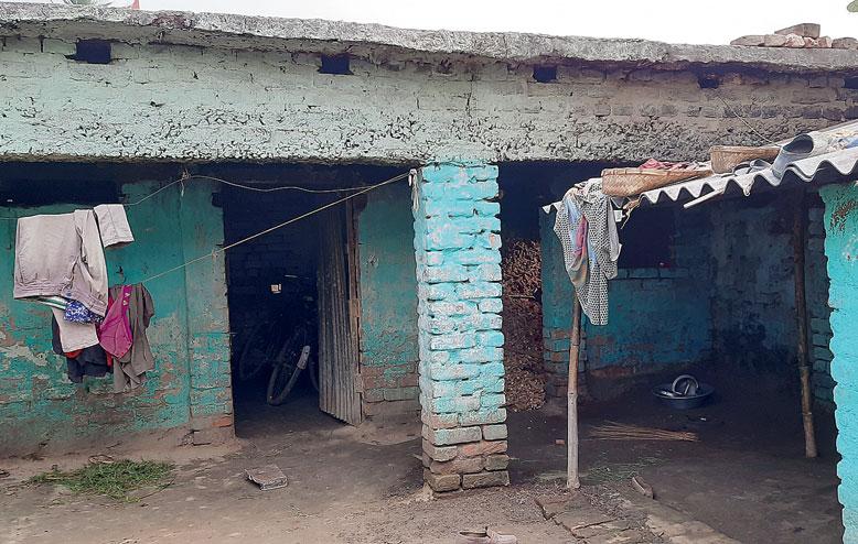 Biranchi Paswan's house in Bairgachhi in Purnea district.