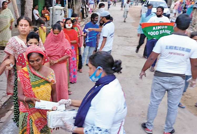 Menstrual kits being distributed in Kidderpore