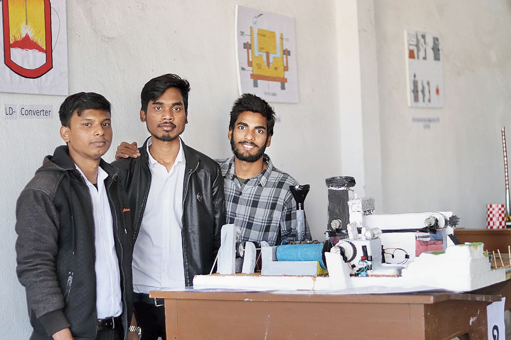 Students participate in Technica at NIT Jamshedpur on Saturday.