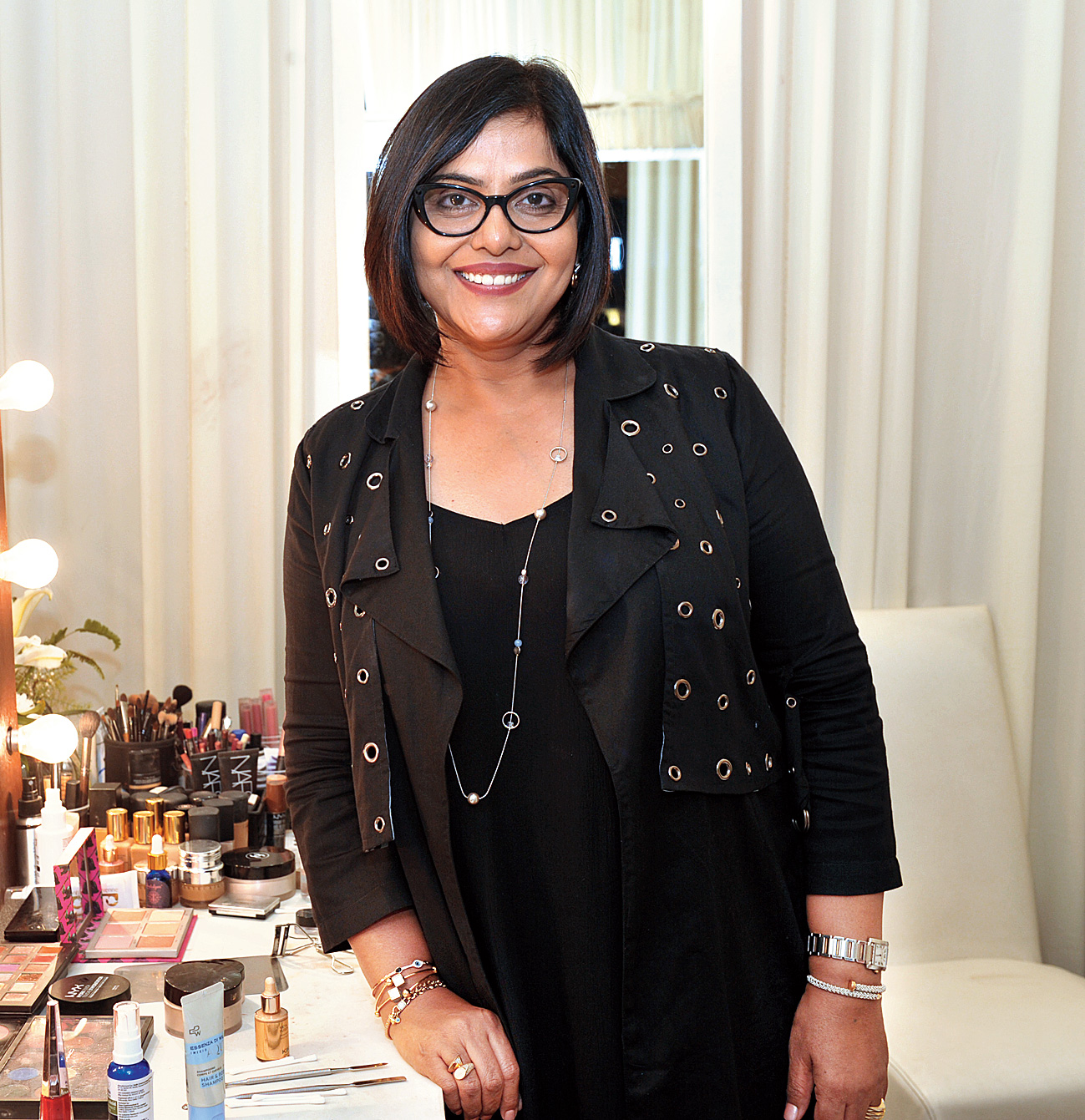 """Beauty pro Anu Kaushik had a few tips for the bride. """"The Indian bride wears so much jewellery and with so much happening in the outfit, you should keep the make-up minimal. Work on your skin and feel beautiful,"""" she said. Those who dropped by her corner were """"happy keeping it minimal"""". """"I told them about the right foundation and eye make-up, about the importance of well-groomed eyebrows or just how kajal can make a difference, or just concealing the under eyes,"""" she said."""