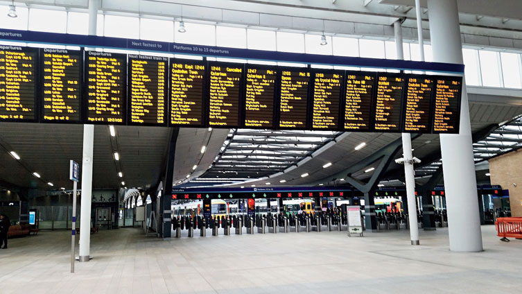 London Bridge, which is normally a busy hub, is deserted on Thursday morning.
