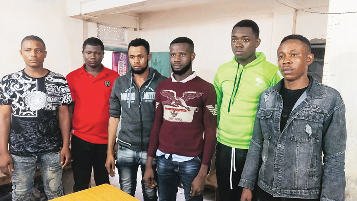 The arrested Nigerians