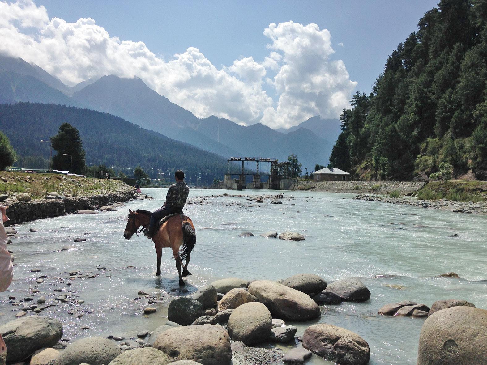 The Lidder river in Pahalgam