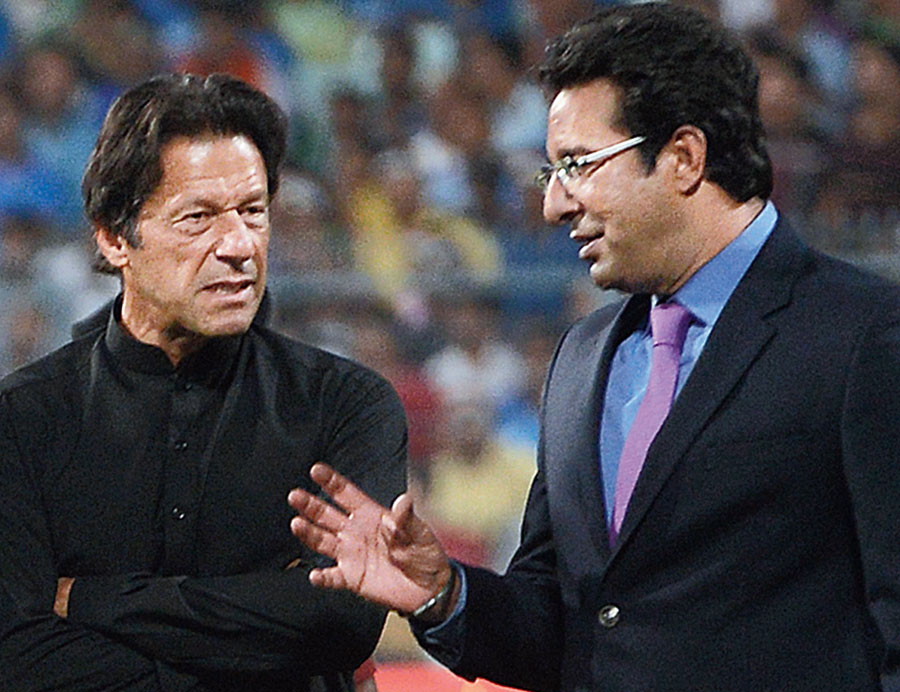 Imran Khan with Wasim Akram