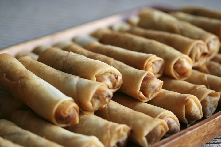 In Southern China spring rolls are eaten to celebrate the coming of spring