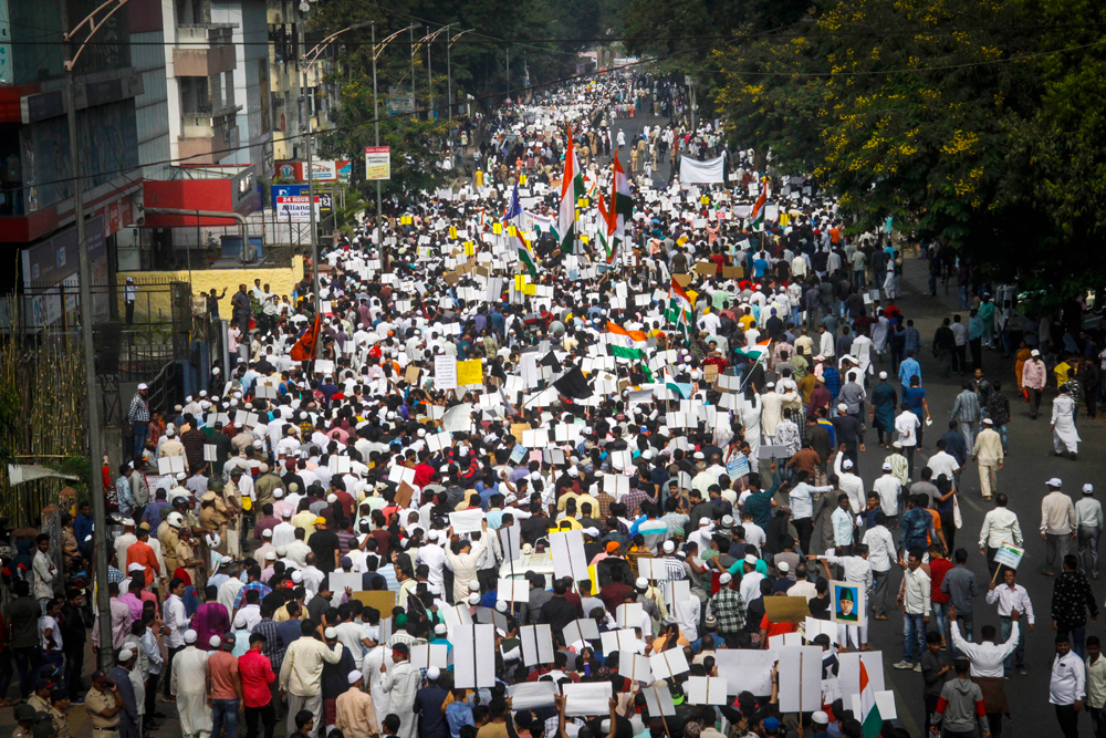 A rally against the Citizenship (Amendment) Act in Pune on December 29
