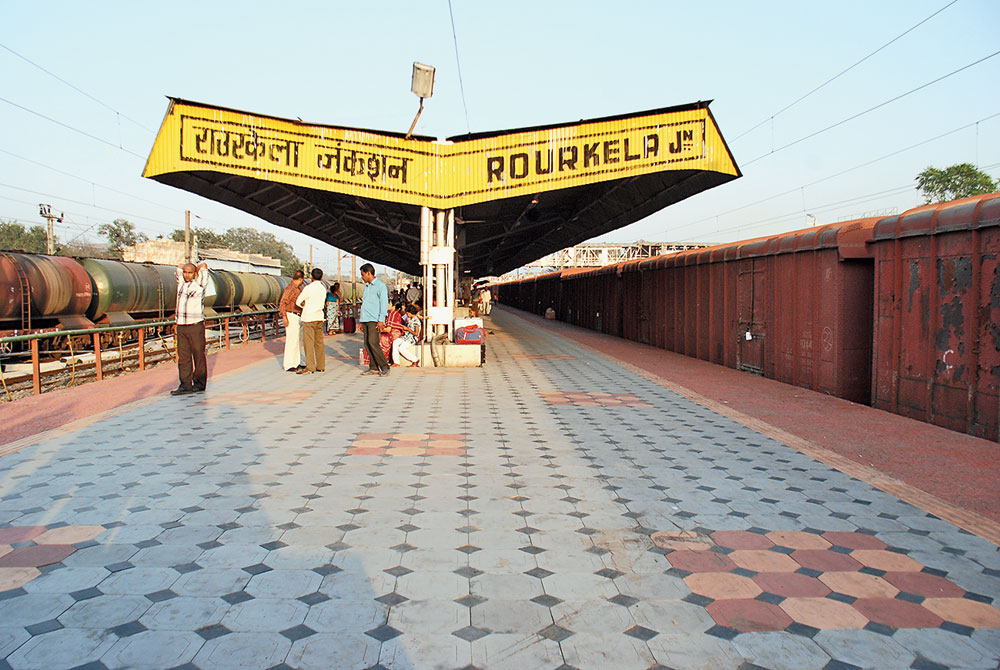 Rourkela station in Odisha from where the engineering student was abducted and brought to Jharkhand on December 30.