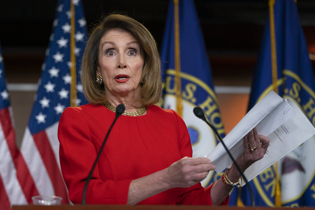 Nancy Pelosi had earlier insisted that William Barr send to Congress the full report by special counsel Robert Mueller on the Russia probe with all its underlying evidence.